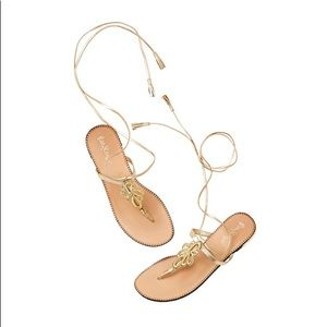 Lilly Pulitzer gold pier sandal